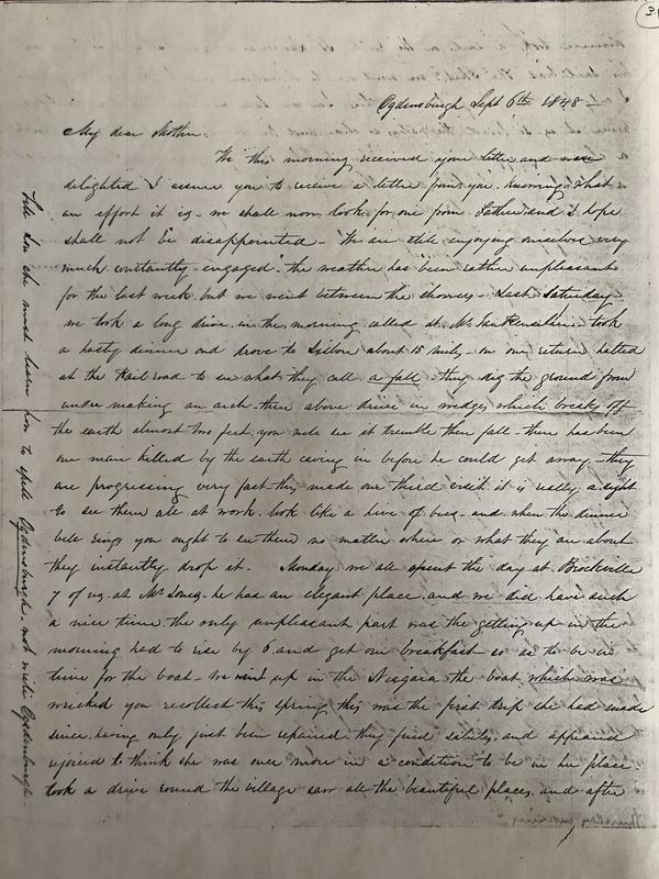 Ann Bevier Sept. 6th 1848