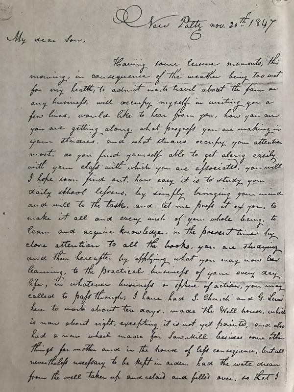 Levi Nov. 20th letter