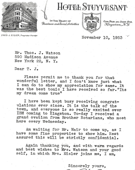 10b Eisler letter to Watson 11_9_53 in case 450px.jpg