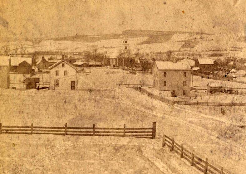 View Looking Down Broadhead Street toward Huguenot Street, New Paltz, NY, 1870s, HHS Archives.jpg