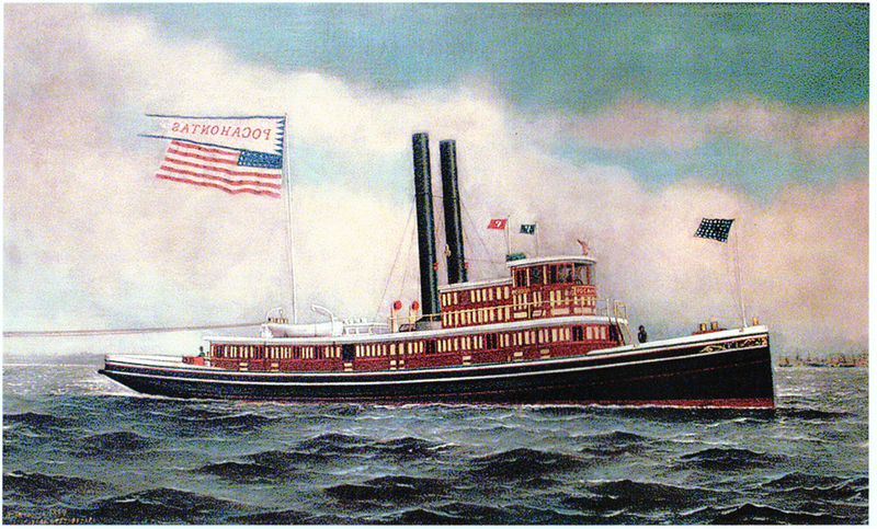 1983.02.2 painting of tugboat pocahontas