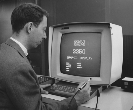17 2250 Graphic Display for System 360 developed in Kingston Laboratory 1963-66 450px.jpg