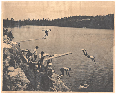 400-At the swimmng rocks-almost the entire camp.jpg