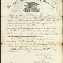 William Coon discharge paper