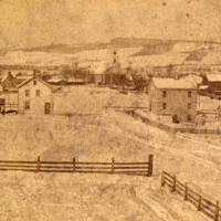 View Looking Down Broadhead Street toward Huguenot Street, New Paltz, NY, 1870s, HHS Archives.jpg