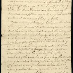 Will of Mathusalem Dubois, 1815