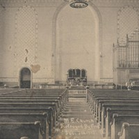 Interior of Old Marlboro Methodist Church